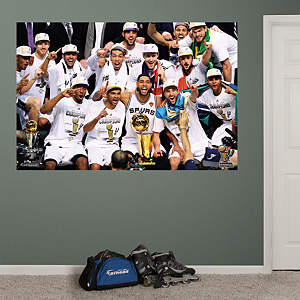 San Antonio Spurs NBA Champions Celebration Mural Fathead Wall Decal